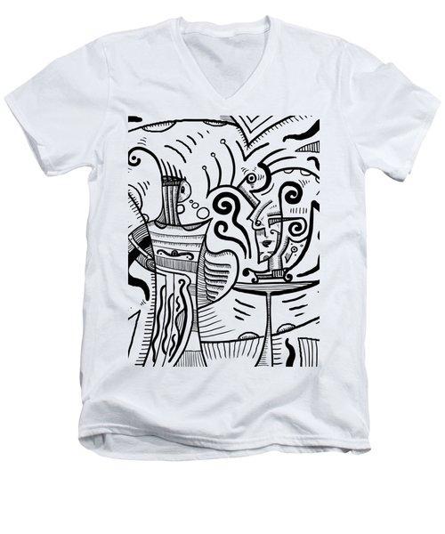 Mystical Powers Men's V-Neck T-Shirt by Sotuland Art
