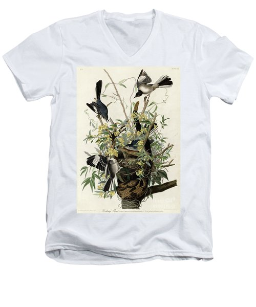 Northern Mockingbird Men's V-Neck T-Shirt by Granger