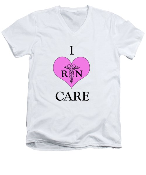 Nursing I Care -  Pink Men's V-Neck T-Shirt by Mark Kiver