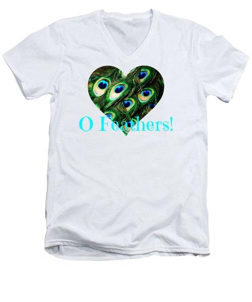 O Feathers Men's V-Neck T-Shirt by Anita Faye