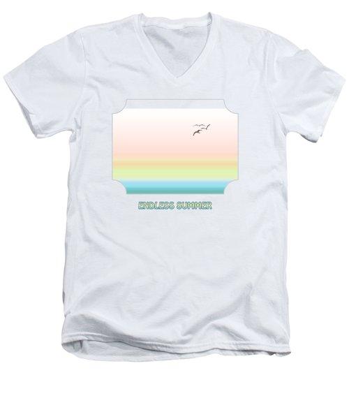 Endless Summer Men's V-Neck T-Shirt by Gill Billington