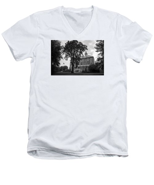 Old Main Penn State Men's V-Neck T-Shirt by John McGraw