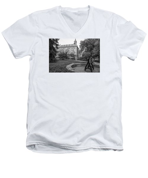 Old Main Penn State University  Men's V-Neck T-Shirt by John McGraw