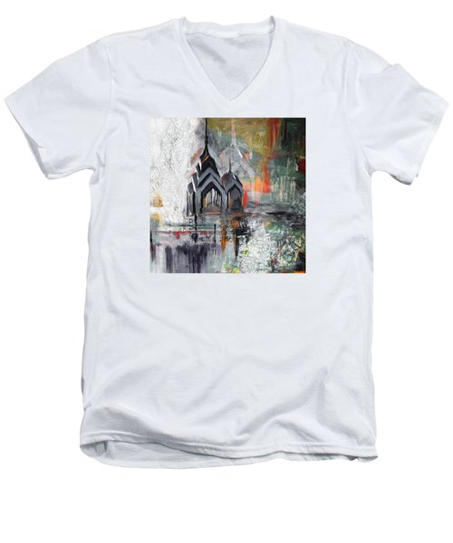 One Liberty Place And Two Liberty Place 229 3 Men's V-Neck T-Shirt by Mawra Tahreem