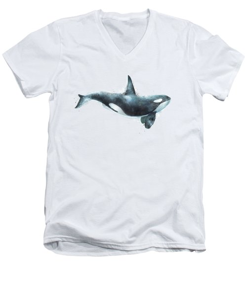 Orca Men's V-Neck T-Shirt by Amy Hamilton