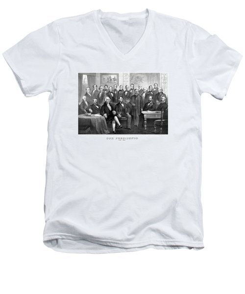 Our Presidents 1789-1881 Men's V-Neck T-Shirt by War Is Hell Store