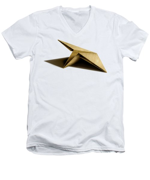 Paper Airplanes Of Wood 7 Men's V-Neck T-Shirt by YoPedro
