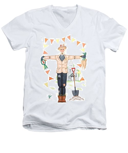 Parson Scarecrow Men's V-Neck T-Shirt by Sandra Moore