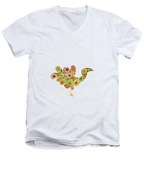 Peafowl Men's V-Neck T-Shirt by BONB Creative