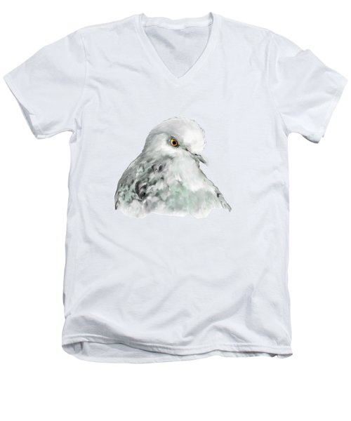 Pigeon Men's V-Neck T-Shirt by Bamalam  Photography