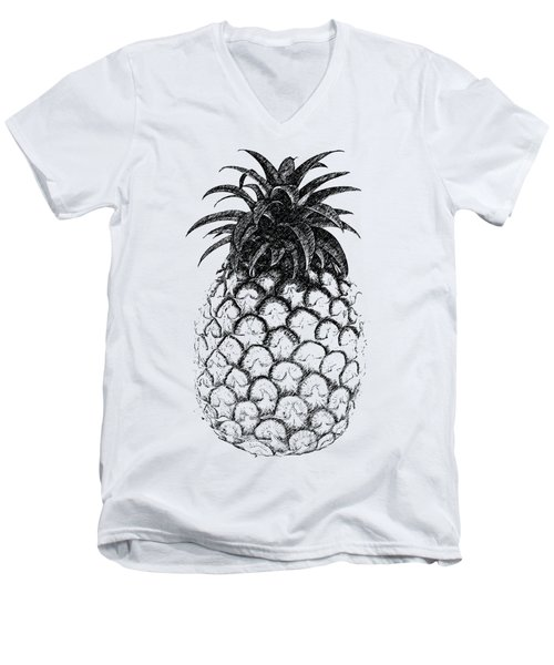 Pineapple Men's V-Neck T-Shirt by Birgitta