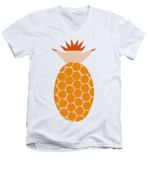Pineapple Men's V-Neck T-Shirt by Frank Tschakert