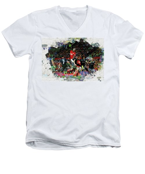 Pogba Street Art Men's V-Neck T-Shirt by Don Kuing