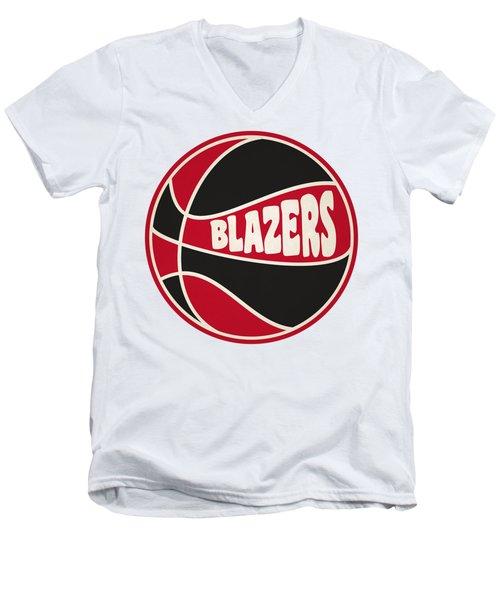 Portland Trail Blazers Retro Shirt Men's V-Neck T-Shirt by Joe Hamilton