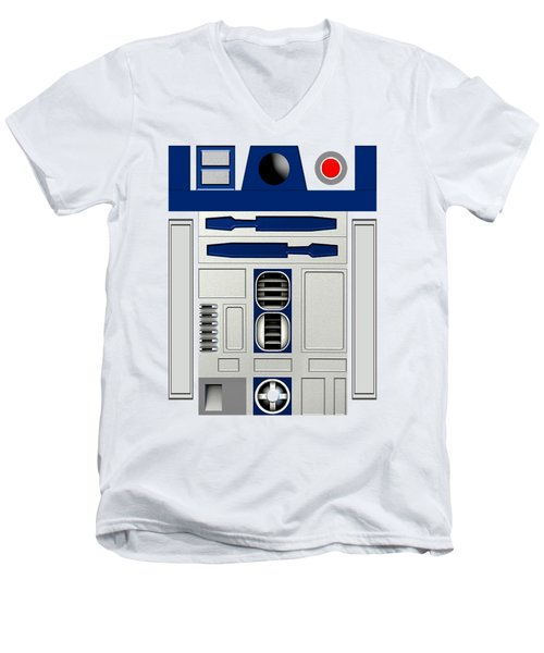 R2d2 Men's V-Neck T-Shirt by Janis Marika