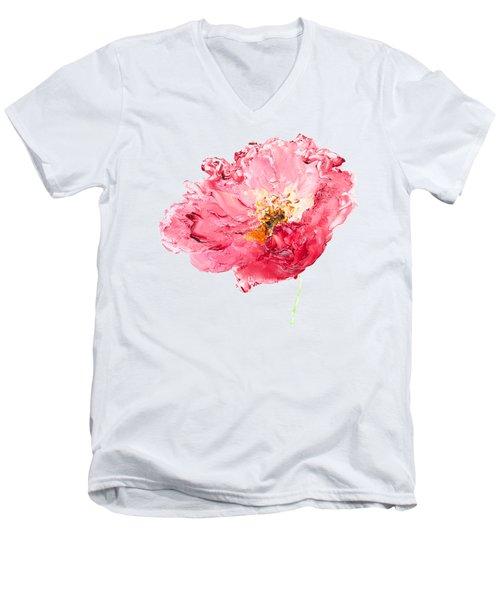 Red Poppy Painting Men's V-Neck T-Shirt by Jan Matson