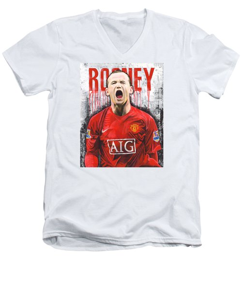 Rooney Men's V-Neck T-Shirt by Jeff Gomez