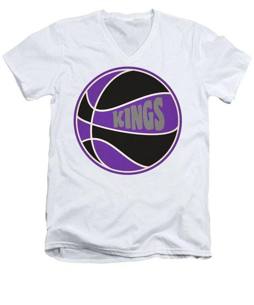 Sacramento Kings Retro Shirt Men's V-Neck T-Shirt by Joe Hamilton