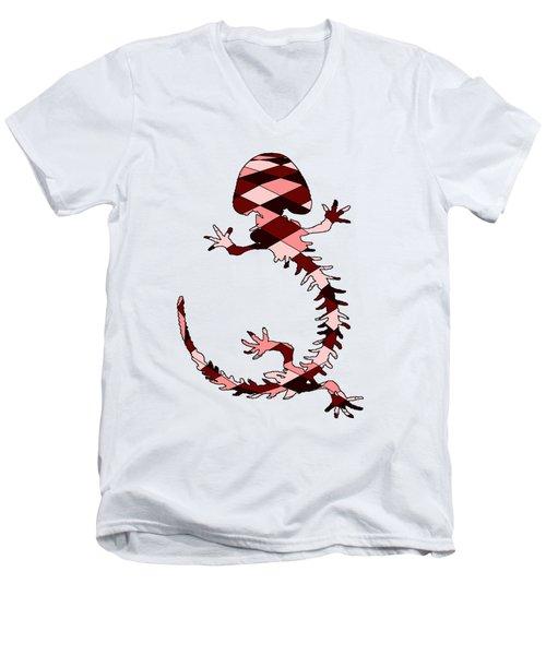 Salamander Skeleton Men's V-Neck T-Shirt by Mordax Furittus