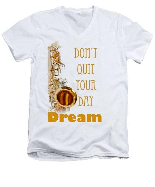 Saxophone Fine Art Photographs Art Prints 5019.02 Men's V-Neck T-Shirt by M K  Miller