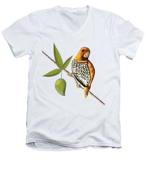 Scaly Breasted Munia D Men's V-Neck T-Shirt by Thecla Correya