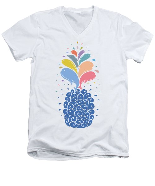 Seapple Men's V-Neck T-Shirt by Mustafa Akgul