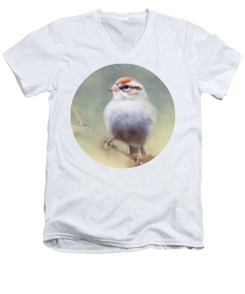 Serendipitous Sparrow  Men's V-Neck T-Shirt by Anita Faye