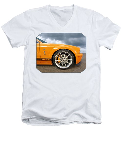 Shelby Gt500 Wheel Men's V-Neck T-Shirt by Gill Billington
