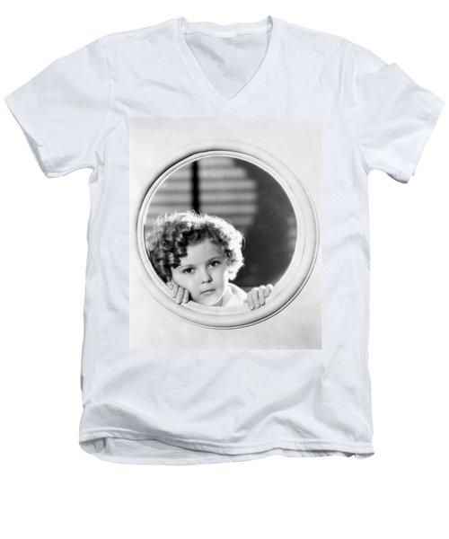 Shirley Temple (1928-2014) Men's V-Neck T-Shirt by Granger