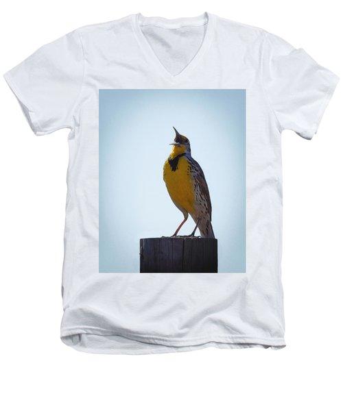 Sing Me A Song Men's V-Neck T-Shirt by Ernie Echols