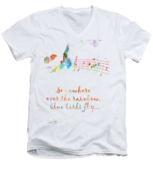 Somewhere Over The Rainbow Men's V-Neck T-Shirt by Nikki Smith