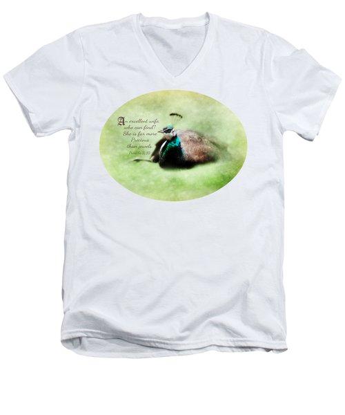 Sophisticated - Verse Men's V-Neck T-Shirt by Anita Faye