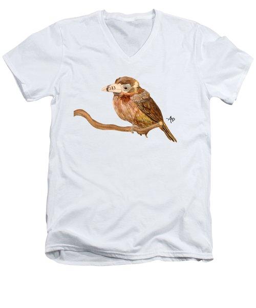 Spot-billed Toucanet Men's V-Neck T-Shirt by Angeles M Pomata