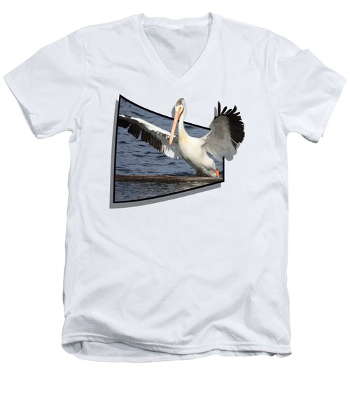 Spread Your Wings Men's V-Neck T-Shirt by Shane Bechler