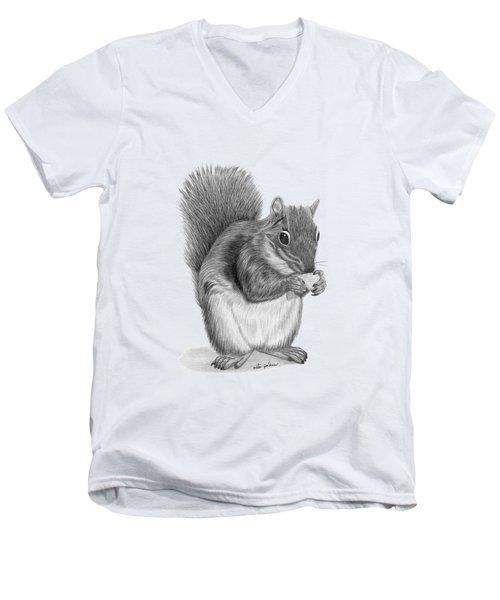 Squirrel #2 Men's V-Neck T-Shirt by Rita Palmer