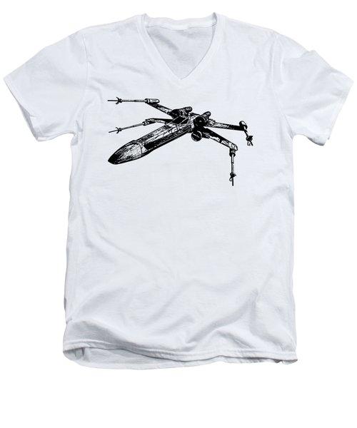 Star Wars T-65 X-wing Starfighter Tee Men's V-Neck T-Shirt by Emf