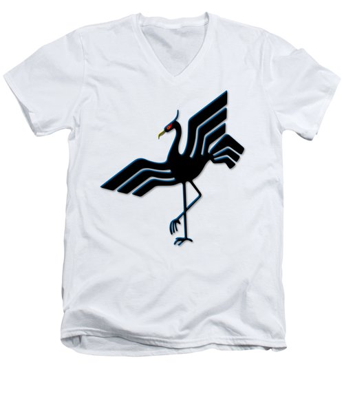 Stork Men's V-Neck T-Shirt by Frederick Holiday