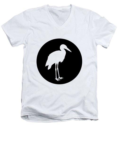 Stork Men's V-Neck T-Shirt by Mordax Furittus
