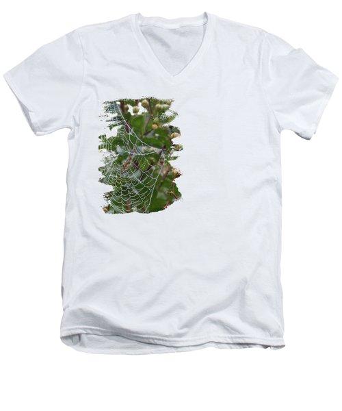 String Of Pearls Men's V-Neck T-Shirt by Anita Faye