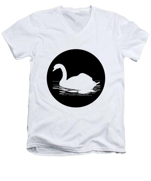 Swan Men's V-Neck T-Shirt by Mordax Furittus