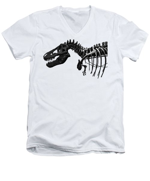 T-rex Men's V-Neck T-Shirt by Martin Newman