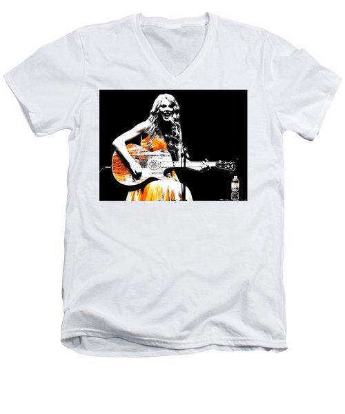 Taylor Swift 9s Men's V-Neck T-Shirt by Brian Reaves