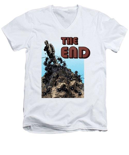 The End Men's V-Neck T-Shirt by Joseph Juvenal