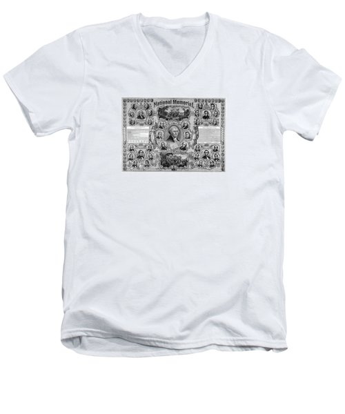 The Great National Memorial Men's V-Neck T-Shirt by War Is Hell Store