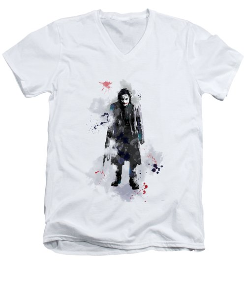The Joker Men's V-Neck T-Shirt by Marlene Watson