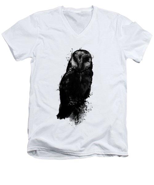 The Owl Men's V-Neck T-Shirt by Nicklas Gustafsson