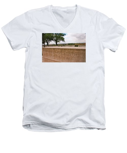 Men's V-Neck T-Shirt featuring the photograph Their Name Liveth For Evermore by Travel Pics
