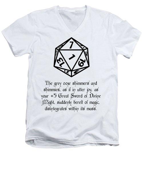 There Goes That Sword Men's V-Neck T-Shirt by Jon Munson II