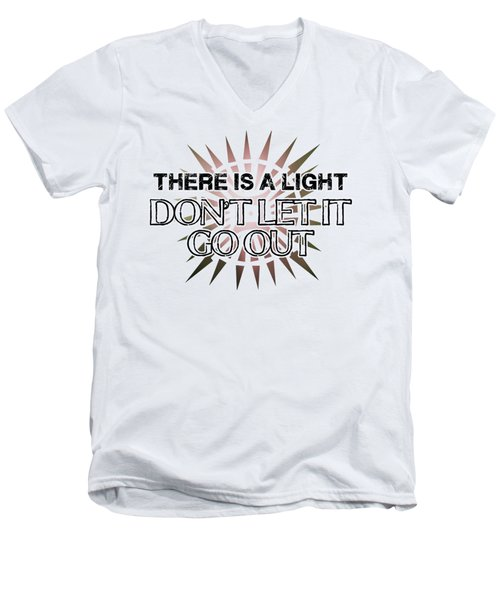 There Is A Light Men's V-Neck T-Shirt by Clad63