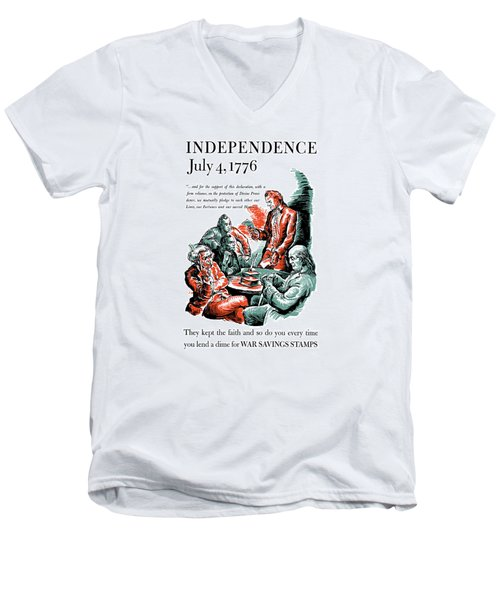 They Kept The Faith - Ww2 Men's V-Neck T-Shirt by War Is Hell Store